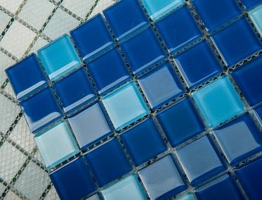 мозаика для бассейна на сетке